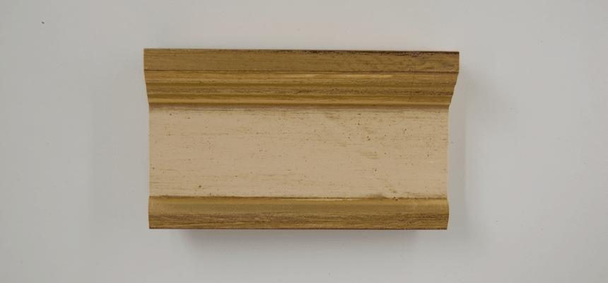 H3E12S Goud - cremewit handgegrondeerd